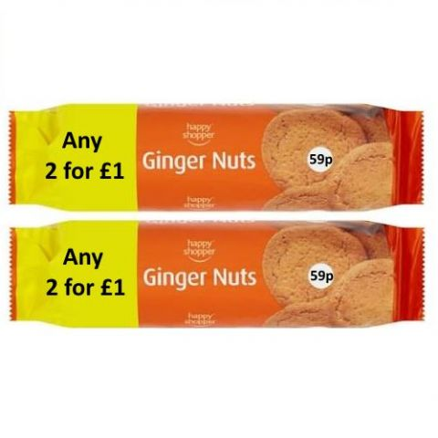 Ginger Nuts Happy Shopper 200g (2 Pack)